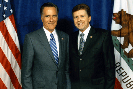 Mitt Romney with Mark Larson